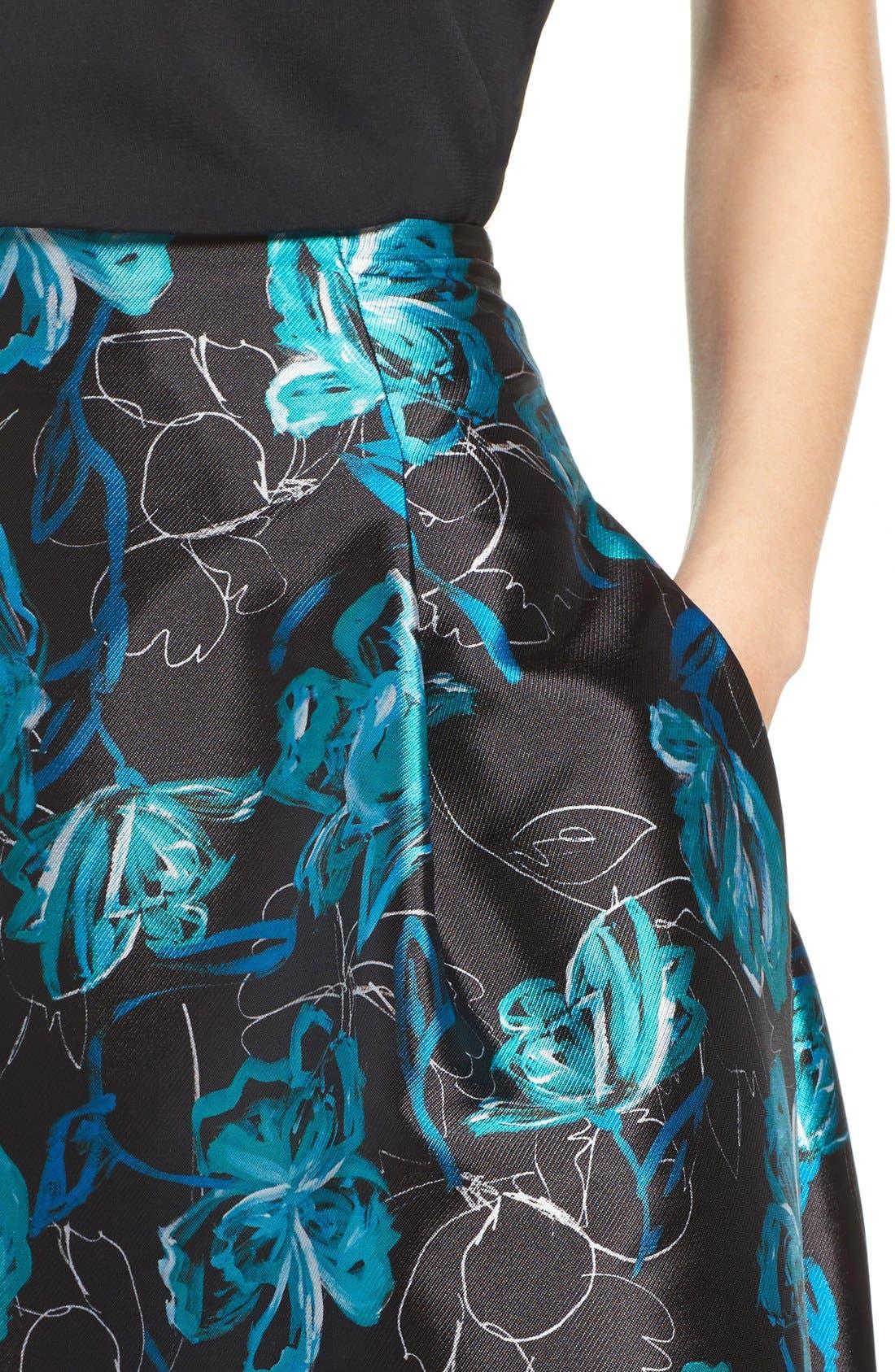 Alternate Image 5  - Sachin & Babi Noir 'Avalon' High/Low Jacquard Ball Skirt