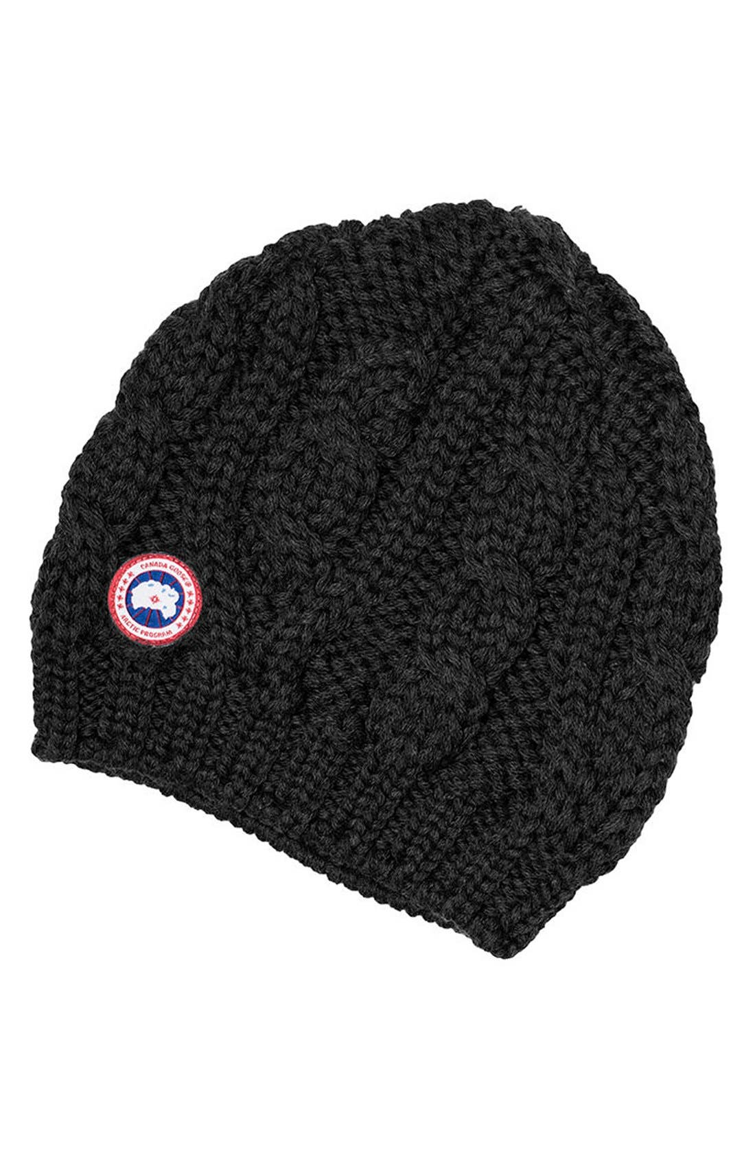 Canada Goose Cable Knit Merino Wool Beanie