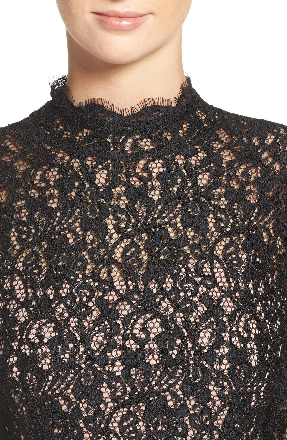 Alternate Image 5  - Adrianna Papell Corded Lace Sheath Dress (Regular & Petite)