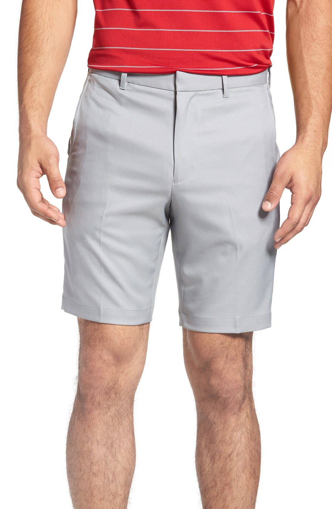 Bobby Jones 'Tech' Flat Front Wrinkle Free Golf Shorts