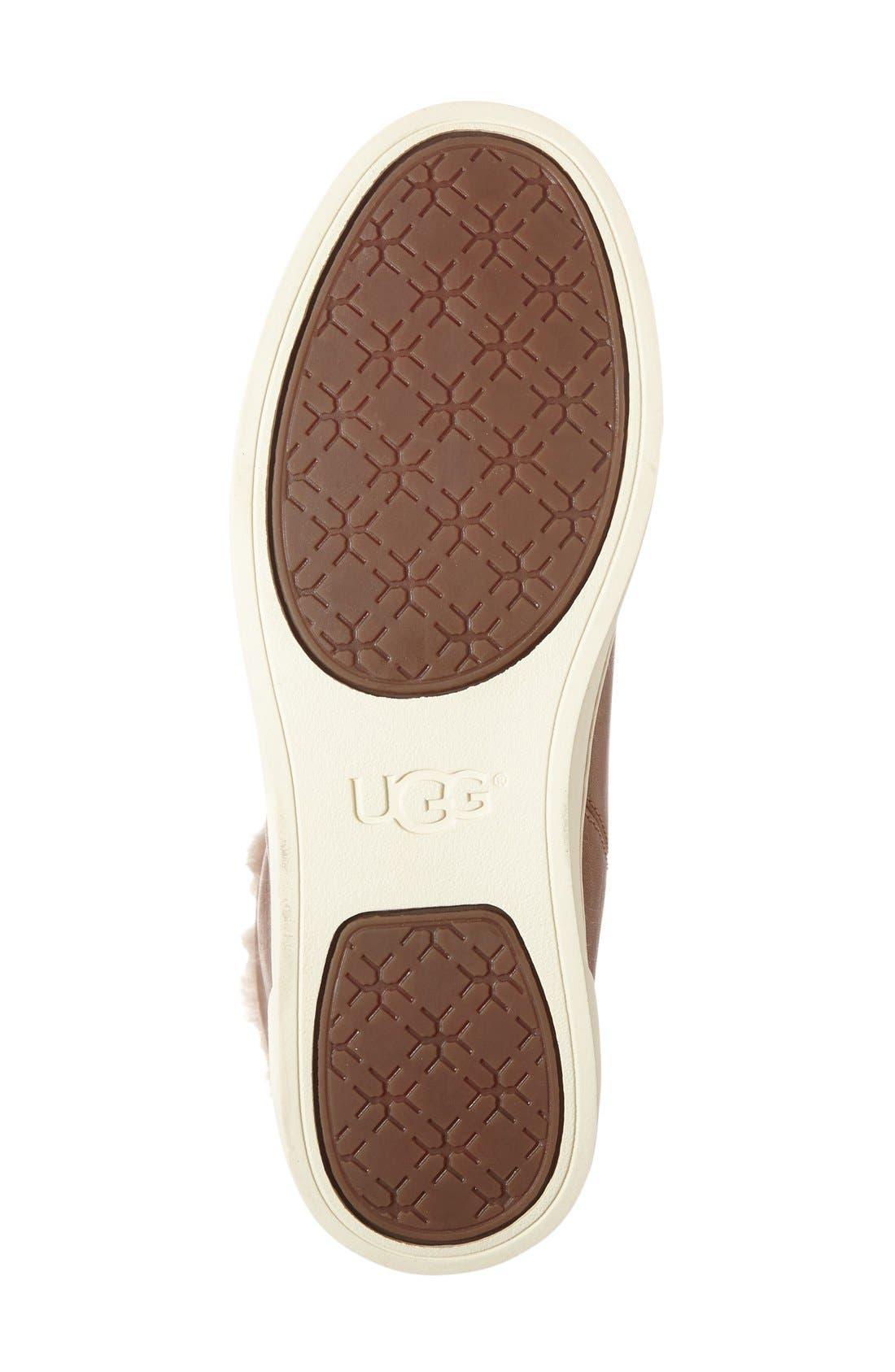 Alternate Image 4  - UGG® 'Croft Luxe' Genuine Shearling High Top Sneaker (Women)