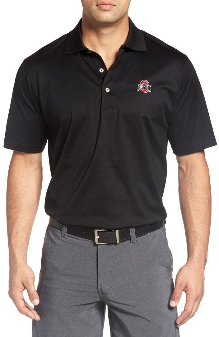 Peter millar 39 ohio state university 39 solid golf polo for Peter millar women s golf shirts