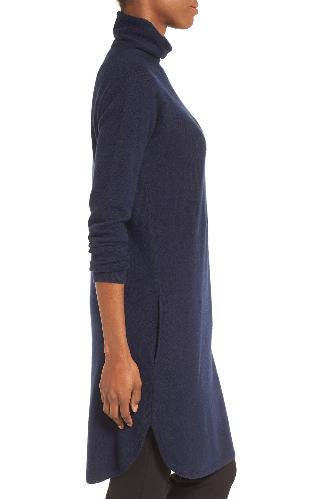 Alternate Image 3  - Nordstrom Collection Funnel Neck Cashmere Tunic