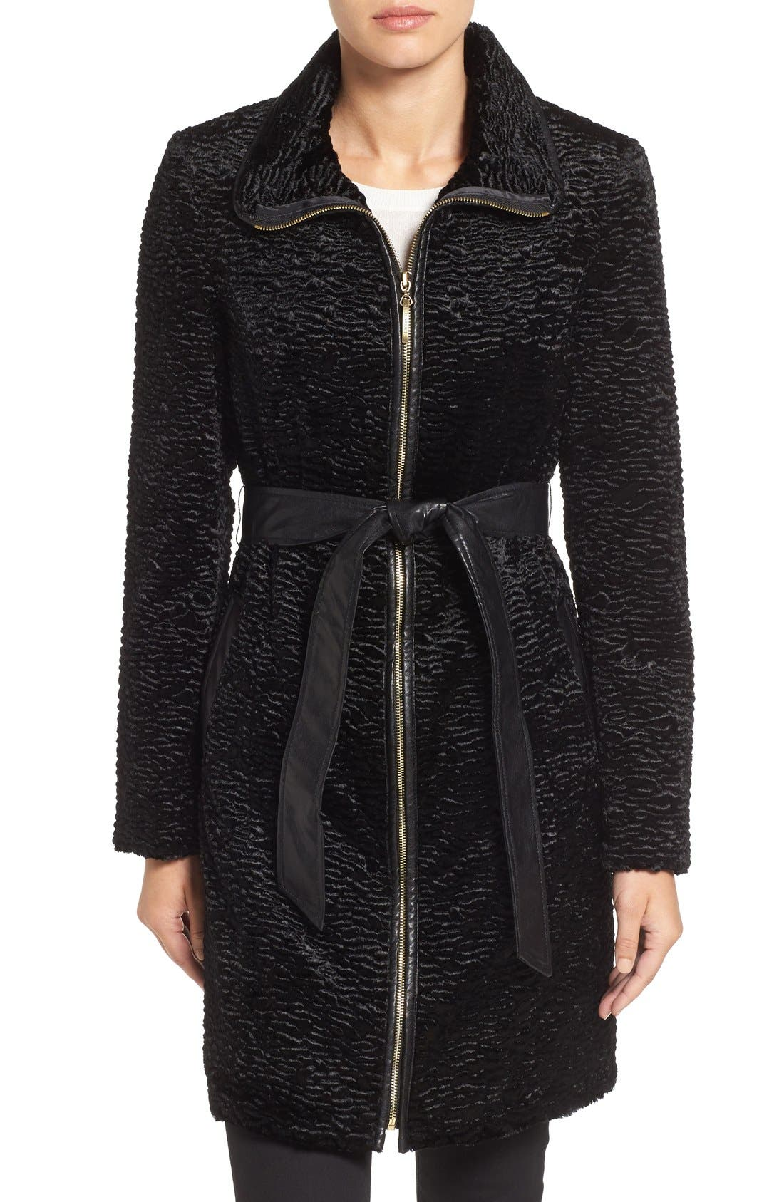 Main Image - Ellen Tracy Textured Trench Coat