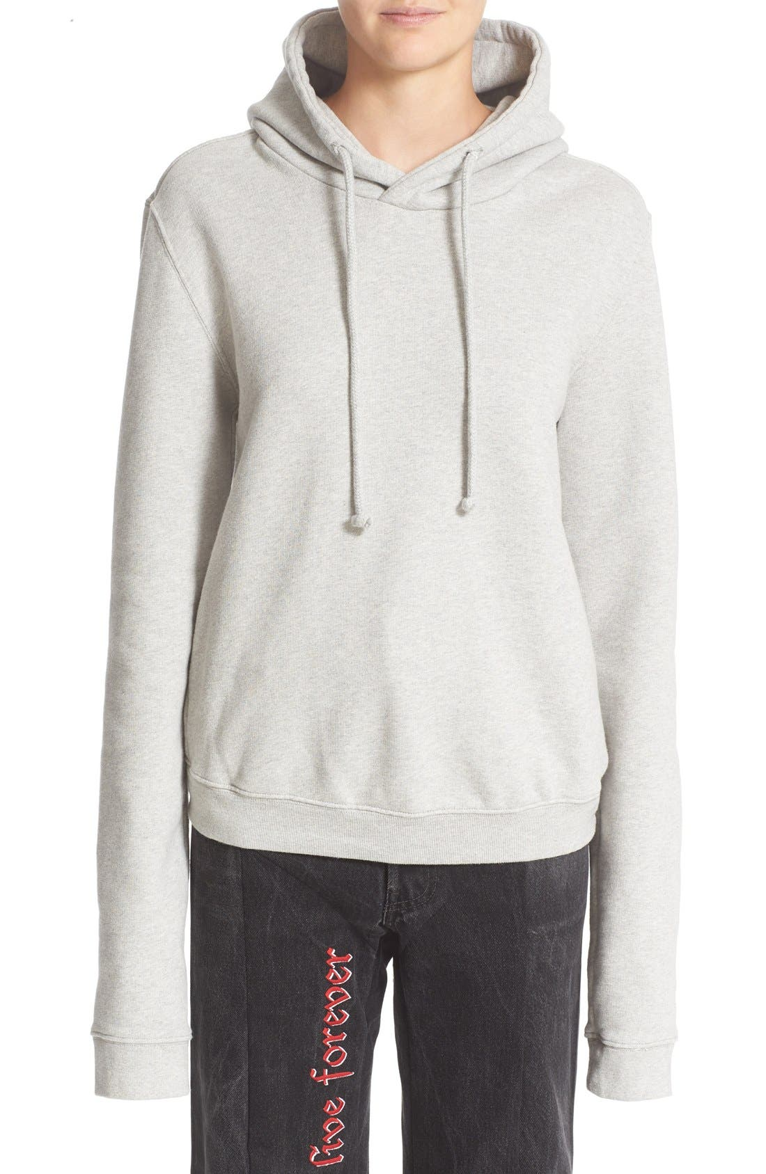 Alternate Image 1  - Vetements Fitted Pullover Hoodie