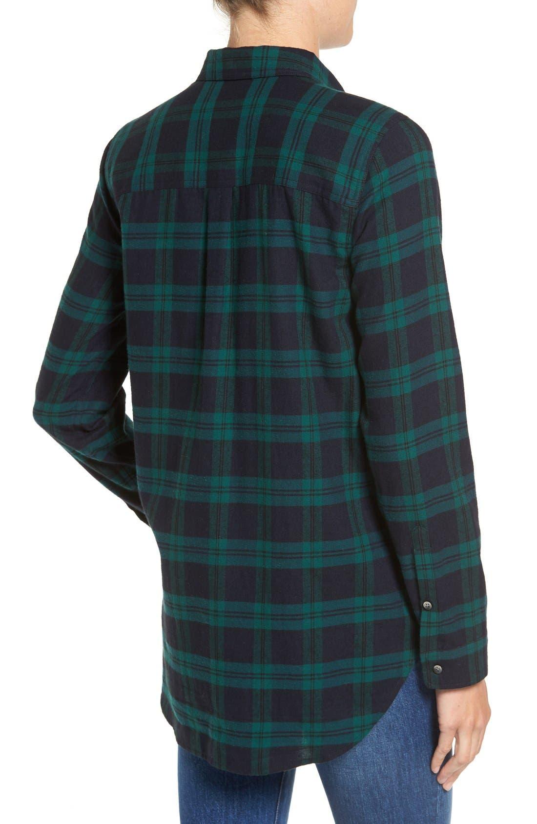 Alternate Image 3  - Madewell Ex Boyfriend - Dark Plaid Classic Shirt