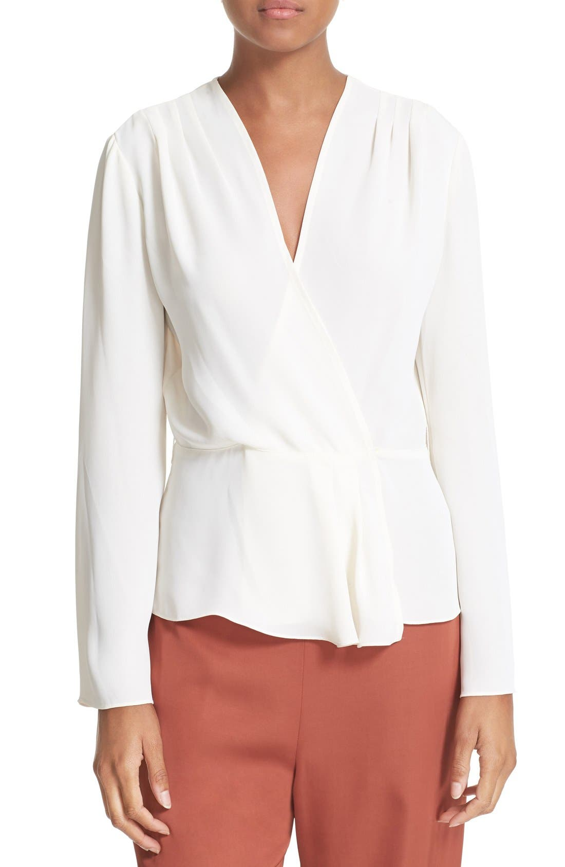 Alternate Image 1 Selected - Elizabeth and James Layla Pleated Wrap Blouse