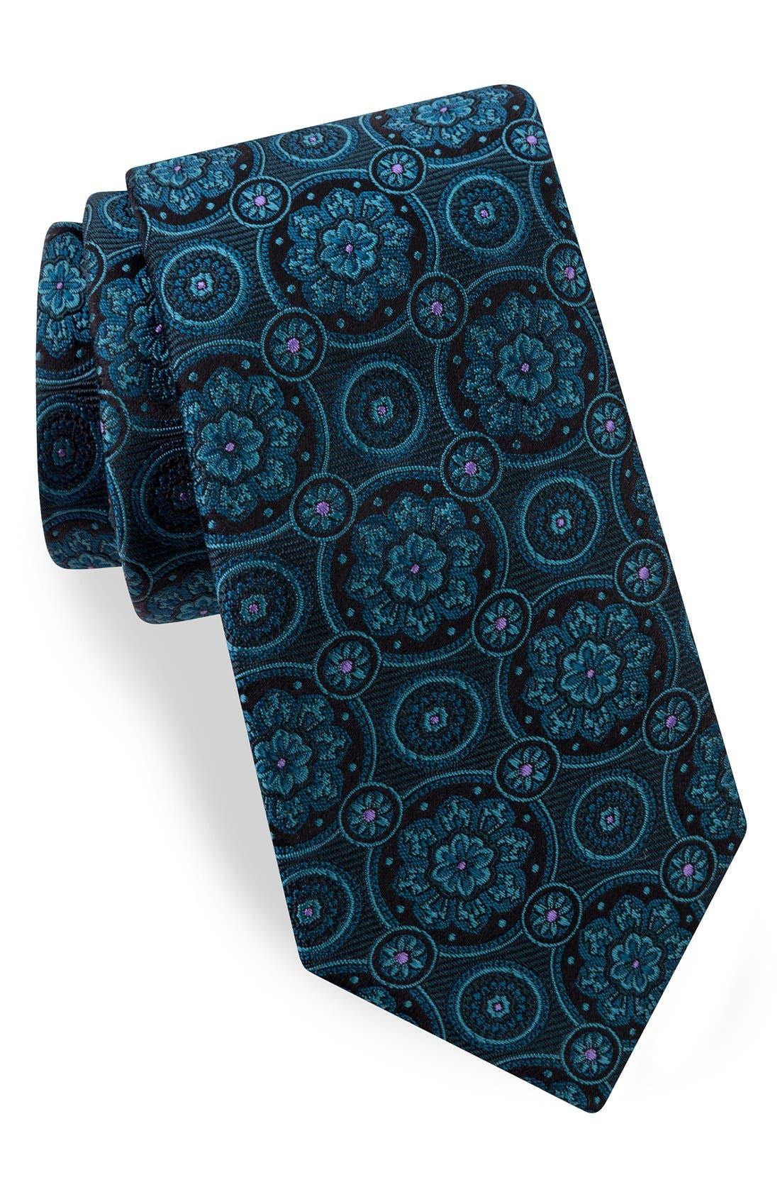 Alternate Image 1 Selected - Ted Baker London Medallion Silk Tie