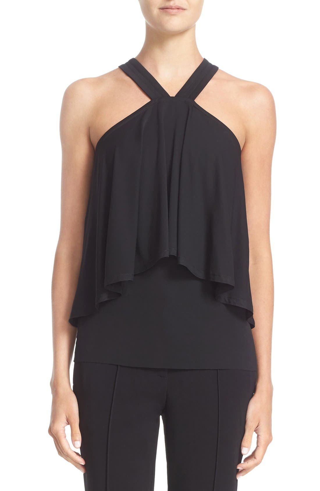 YIGAL AZROUËL Cold Shoulder Jersey Top