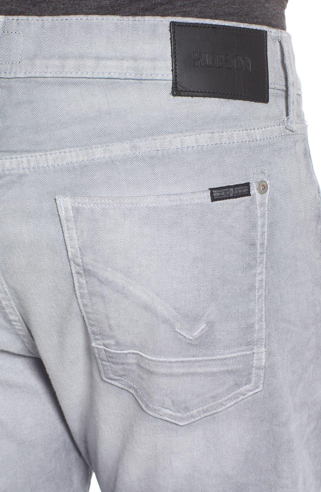 Alternate Image 4  - Hudson Jeans Byron Slim Straight Leg Jeans (Militia Grey)