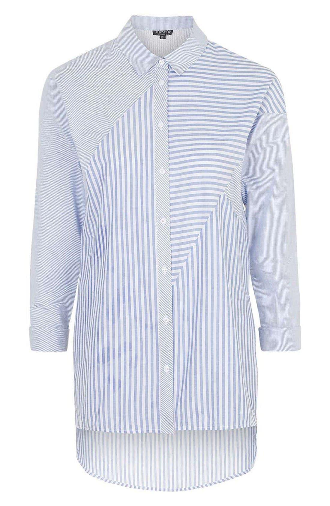 Alternate Image 4  - Topshop 'Harper' Mixed Stripe Shirt