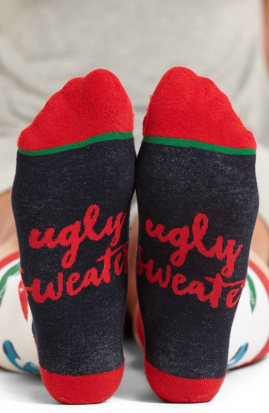 Main Image - Woven Pear Ugly Sweater Socks
