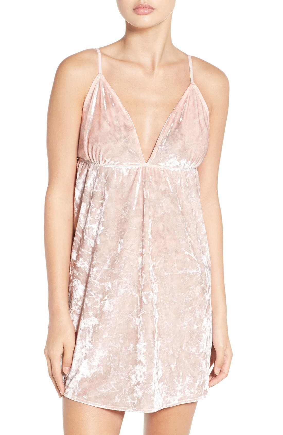 Alternate Image 1 Selected - Chelsea28 Crushed Velvet Chemise