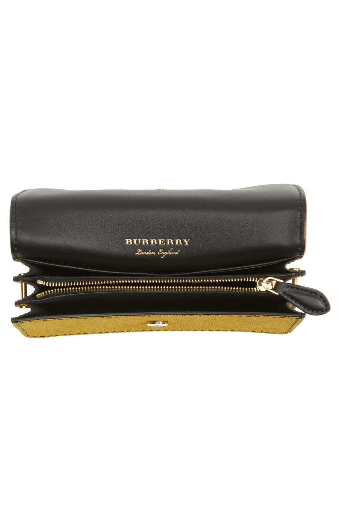 Alternate Image 4  - Burberry 'Belt Bag' Mixed Finish Convertible Clutch with Genuine Snakeskin Trim