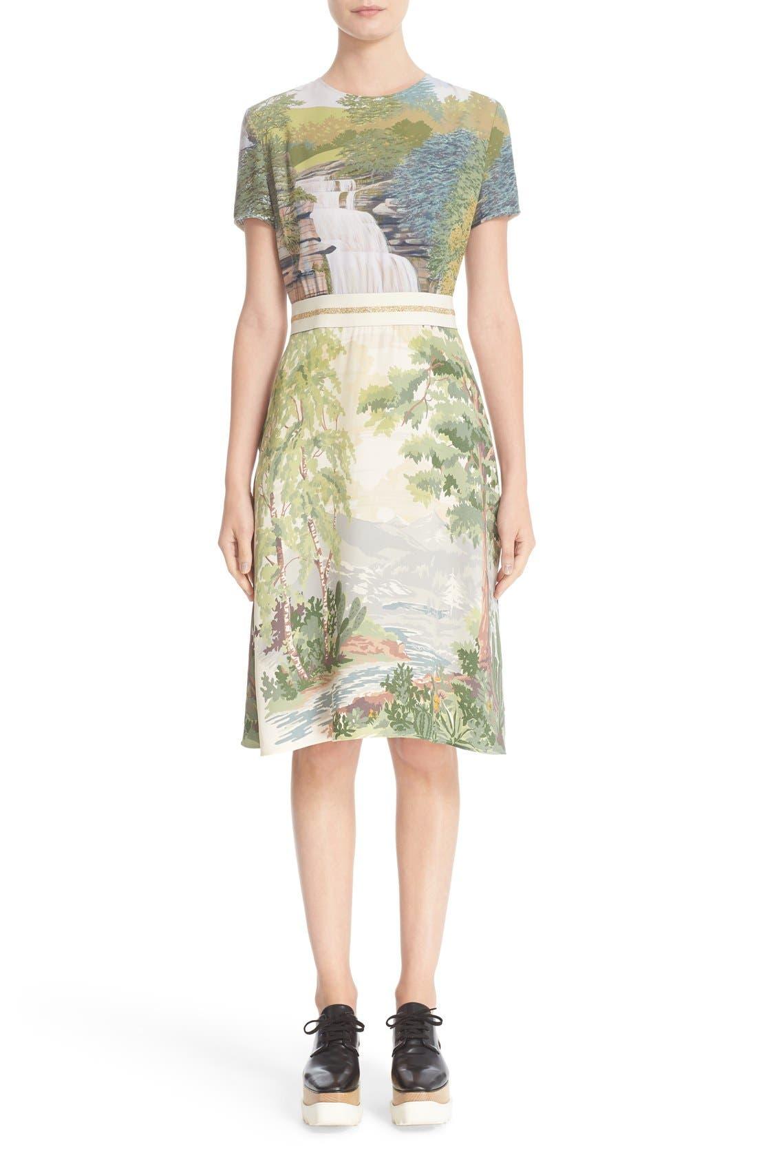STELLA MCCARTNEY Landscape Print Dress