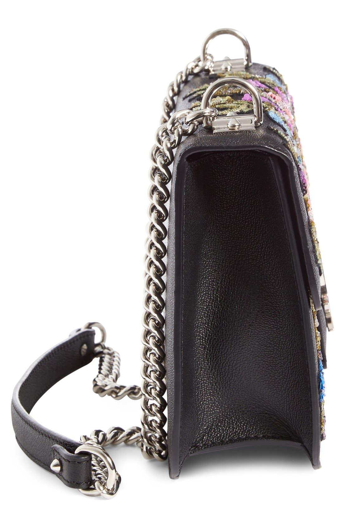 Alternate Image 5  - Alexander McQueen Medium Insignia Calfskin Leather Shoulder Bag