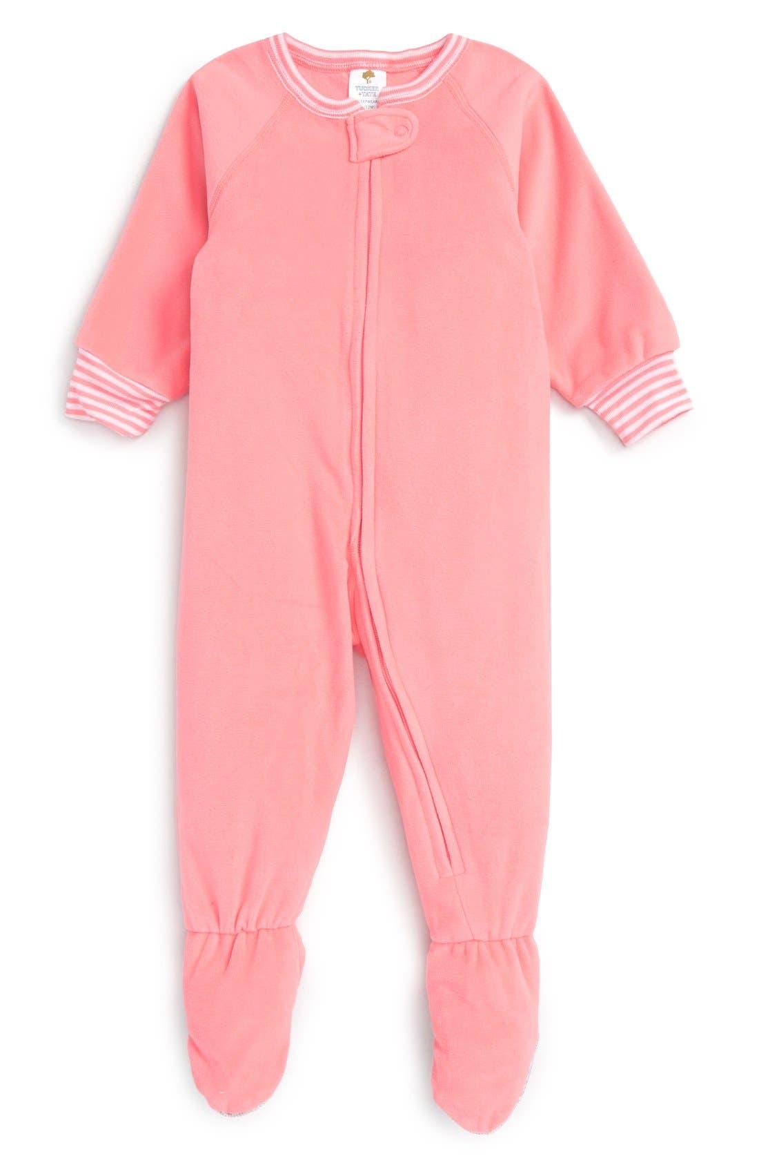 Alternate Image 1 Selected - Tucker + Tate One-Piece Pajamas (Baby Girls)