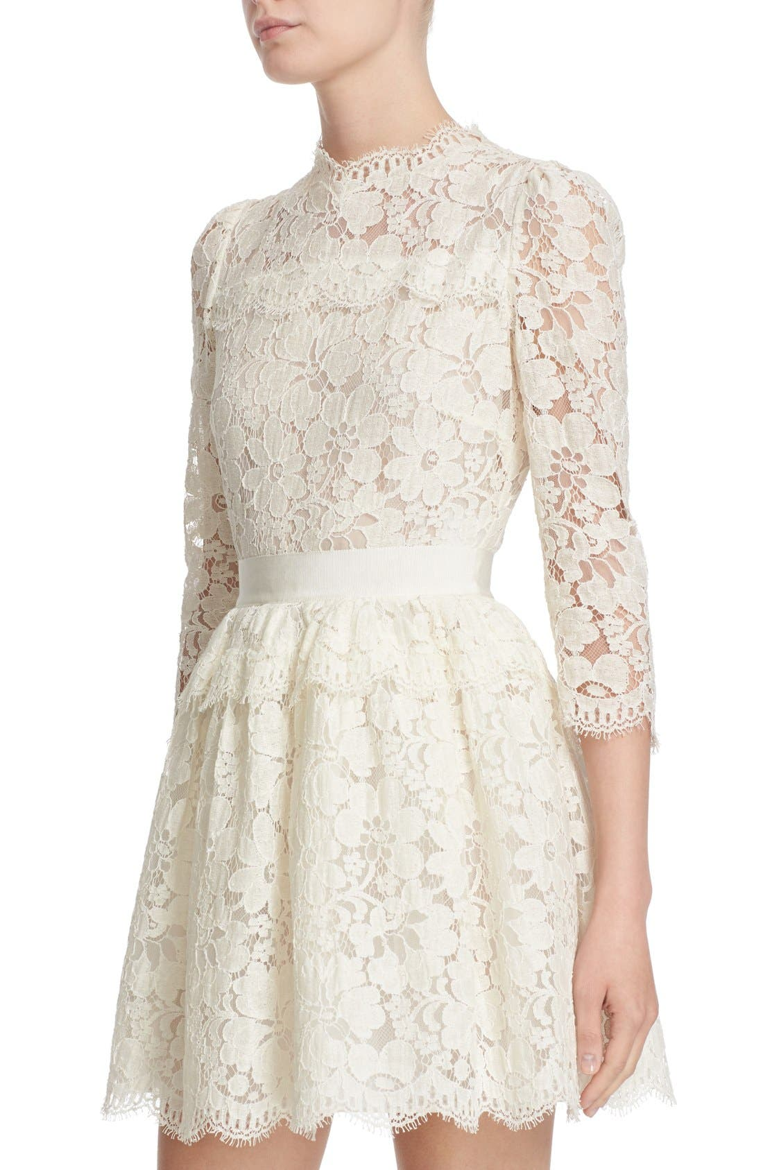 Alternate Image 6  - Alexander McQueen Floral Lace Dress