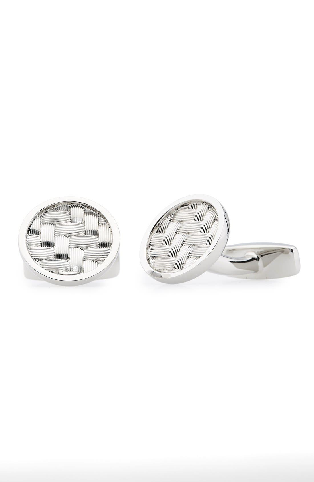 BOSS 'Carlos' Round Cuff Links
