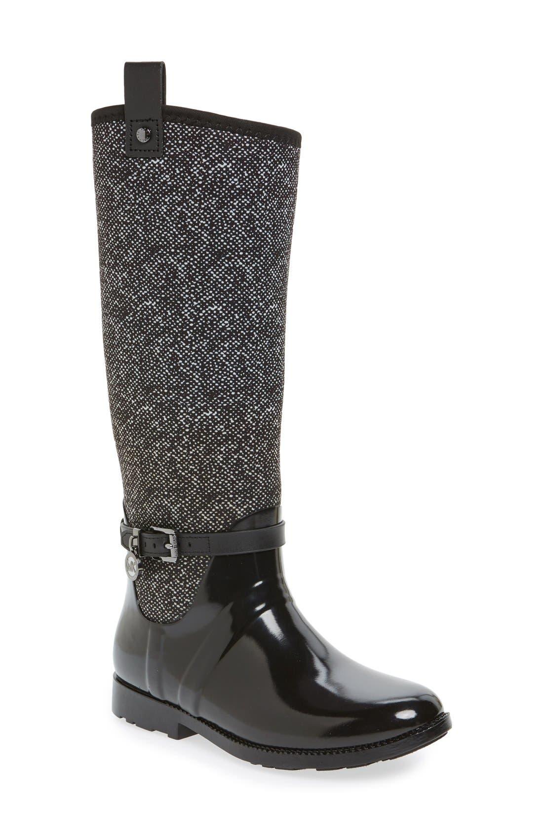 Alternate Image 1 Selected - MICHAEL Michael Kors Charm Stretch Rain Boot (Women) (Nordstrom Exclusive)