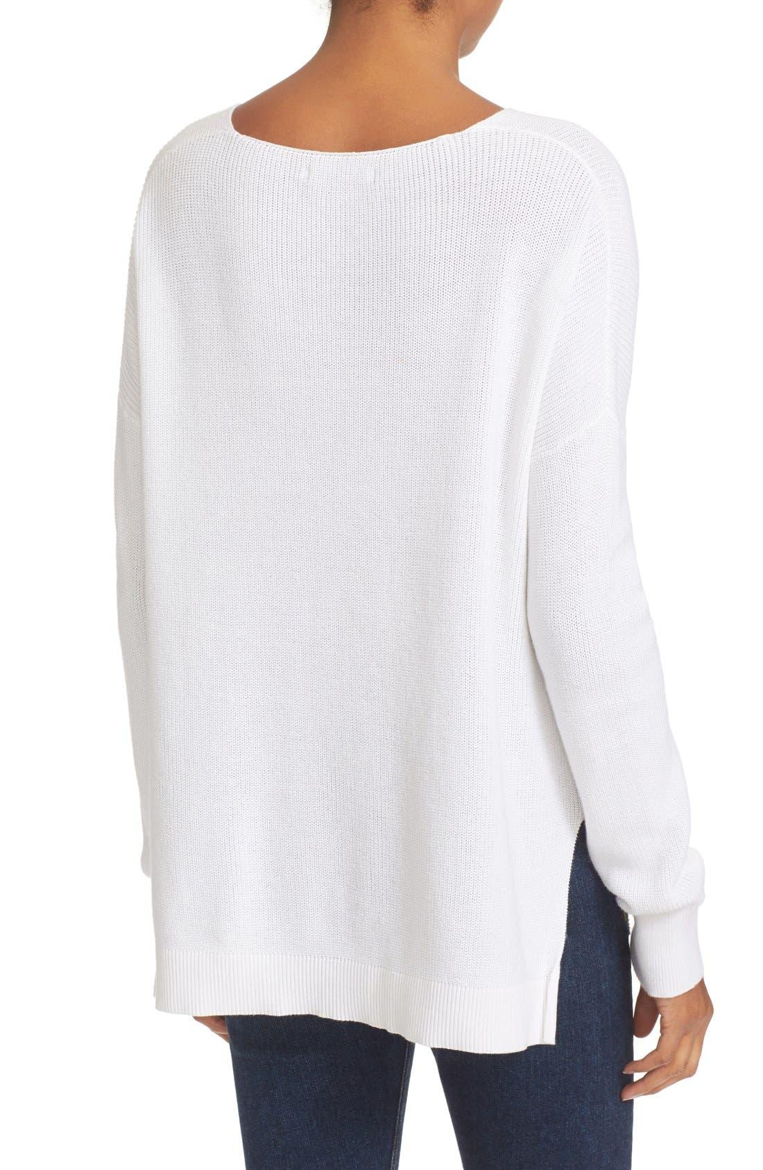 Alternate Image 2  - rag & bone/JEAN Taylor Washed Cotton Sweater