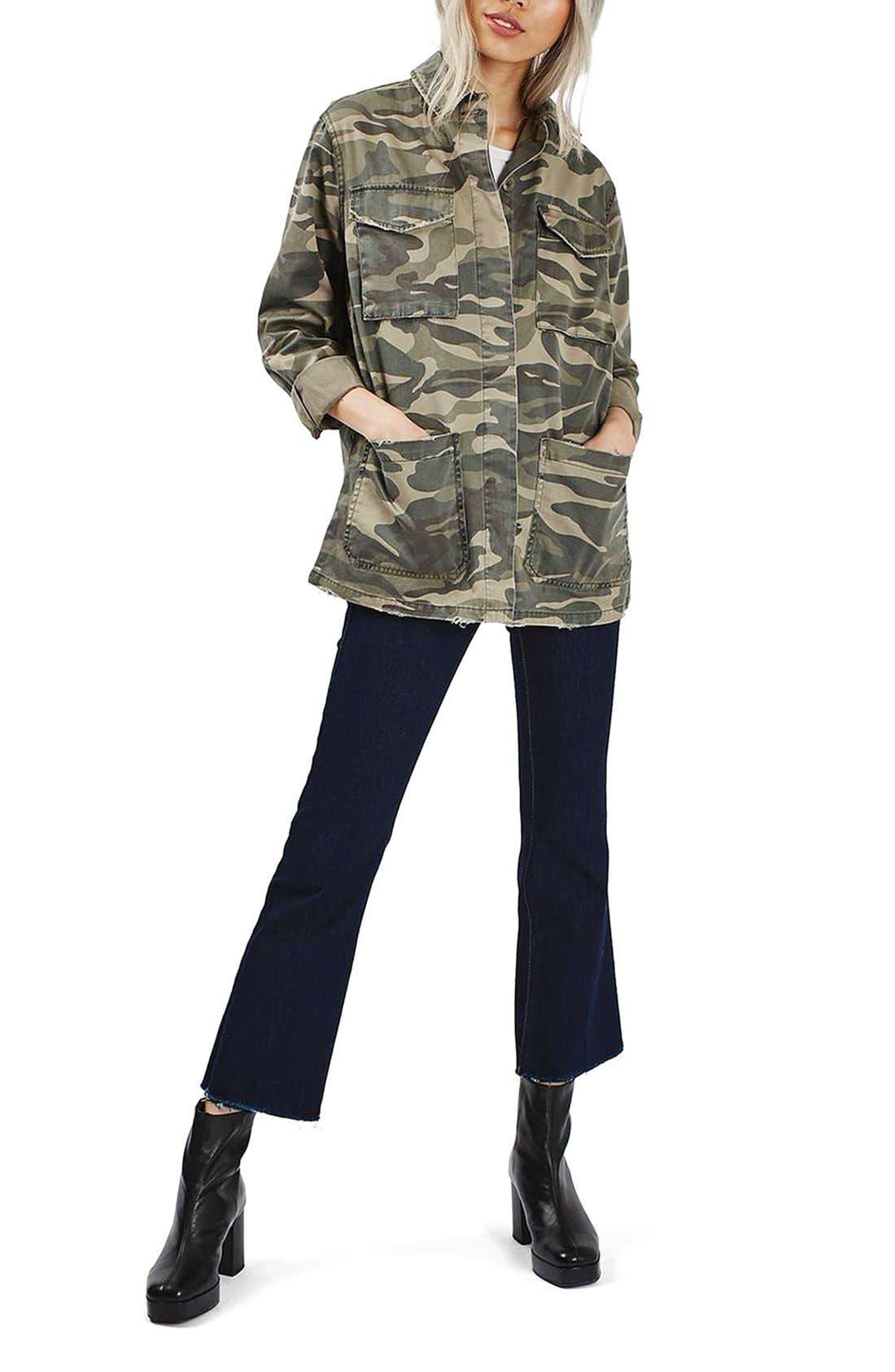Alternate Image 2  - Topshop 'Sarge' Camo Shirt Jacket