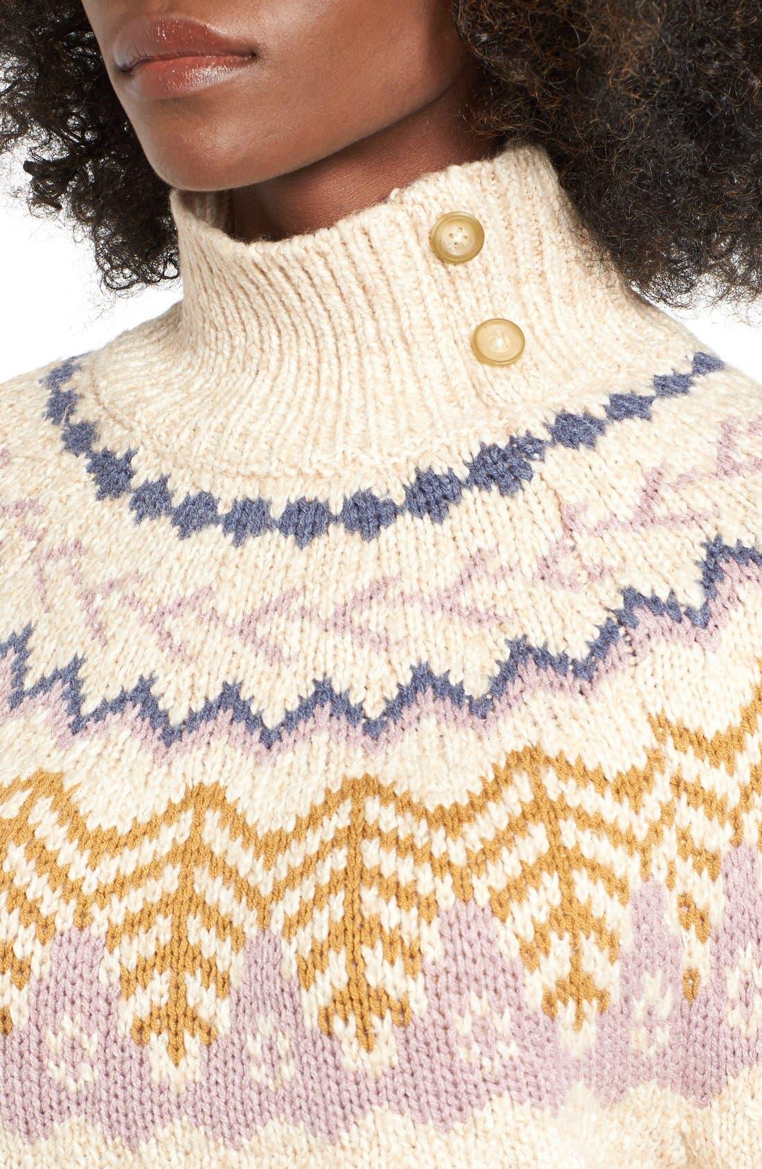 Alternate Image 4  - BP. Fair Isle Knit Pullover