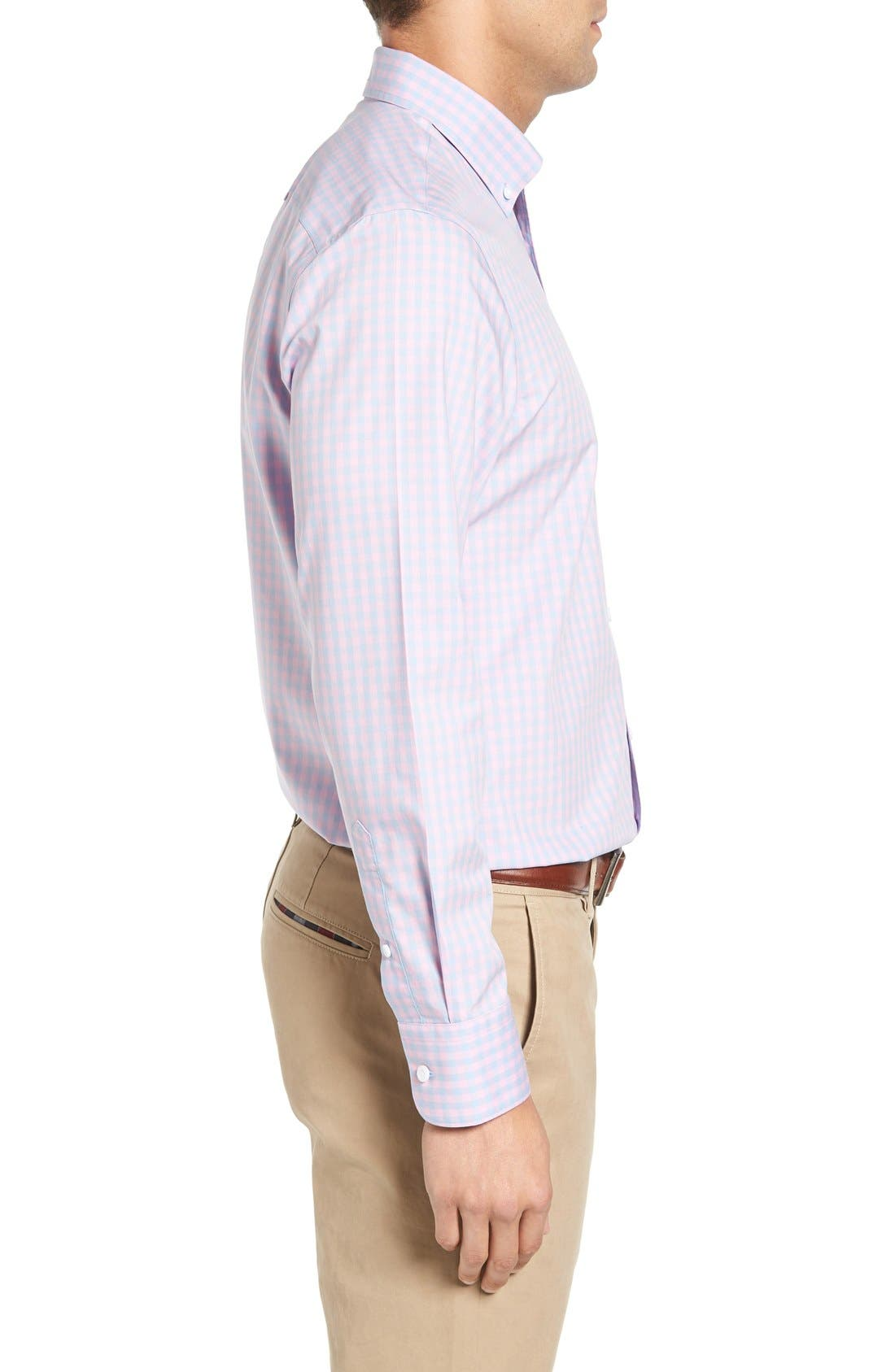 Alternate Image 3  - Nordstrom Men's Shop Smartcare™ Regular Fit Check Sport Shirt (Tall)