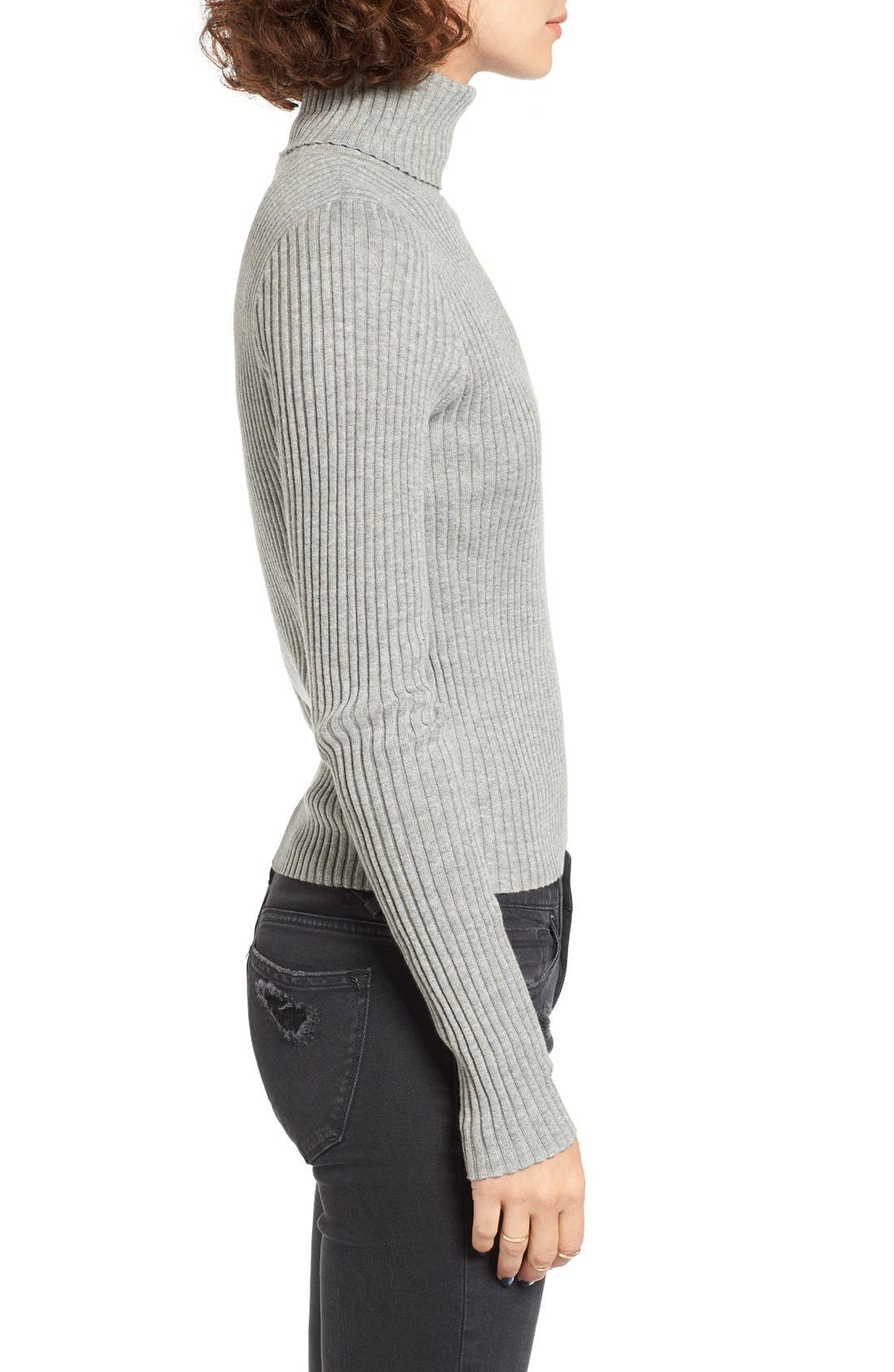 Alternate Image 3  - BP. Rib Knit Turtleneck Sweater