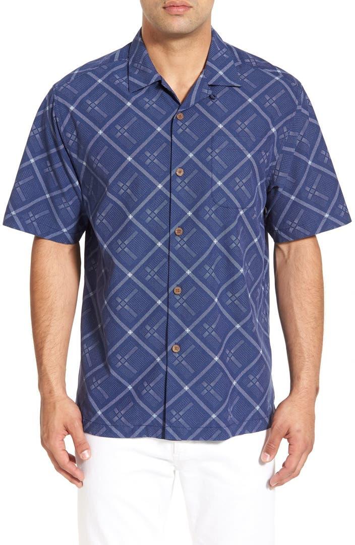 Tommy Bahama Rhumba Dobby Silk Blend Camp Shirt Big