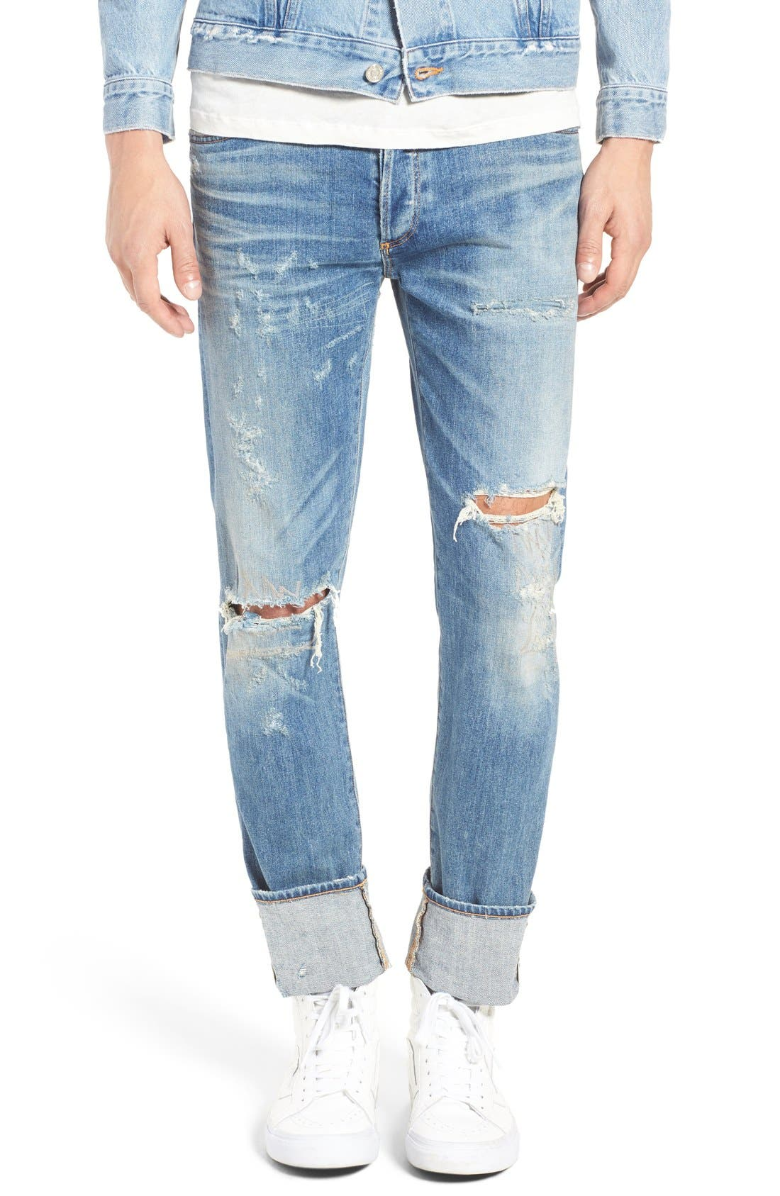 Alternate Image 2  - AGOLDE Skinny Fit Distressed Jeans (H-Town) (Men)