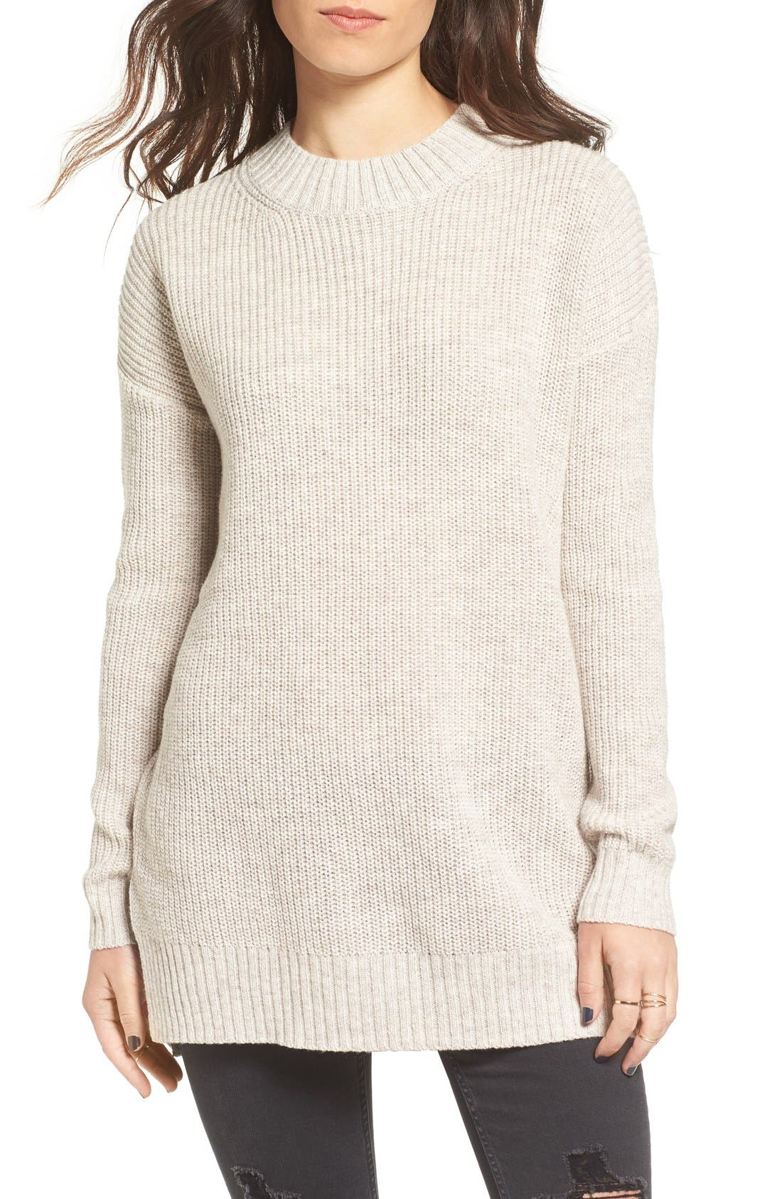 Main Image - BP. Ribbed Mock Neck Pullover