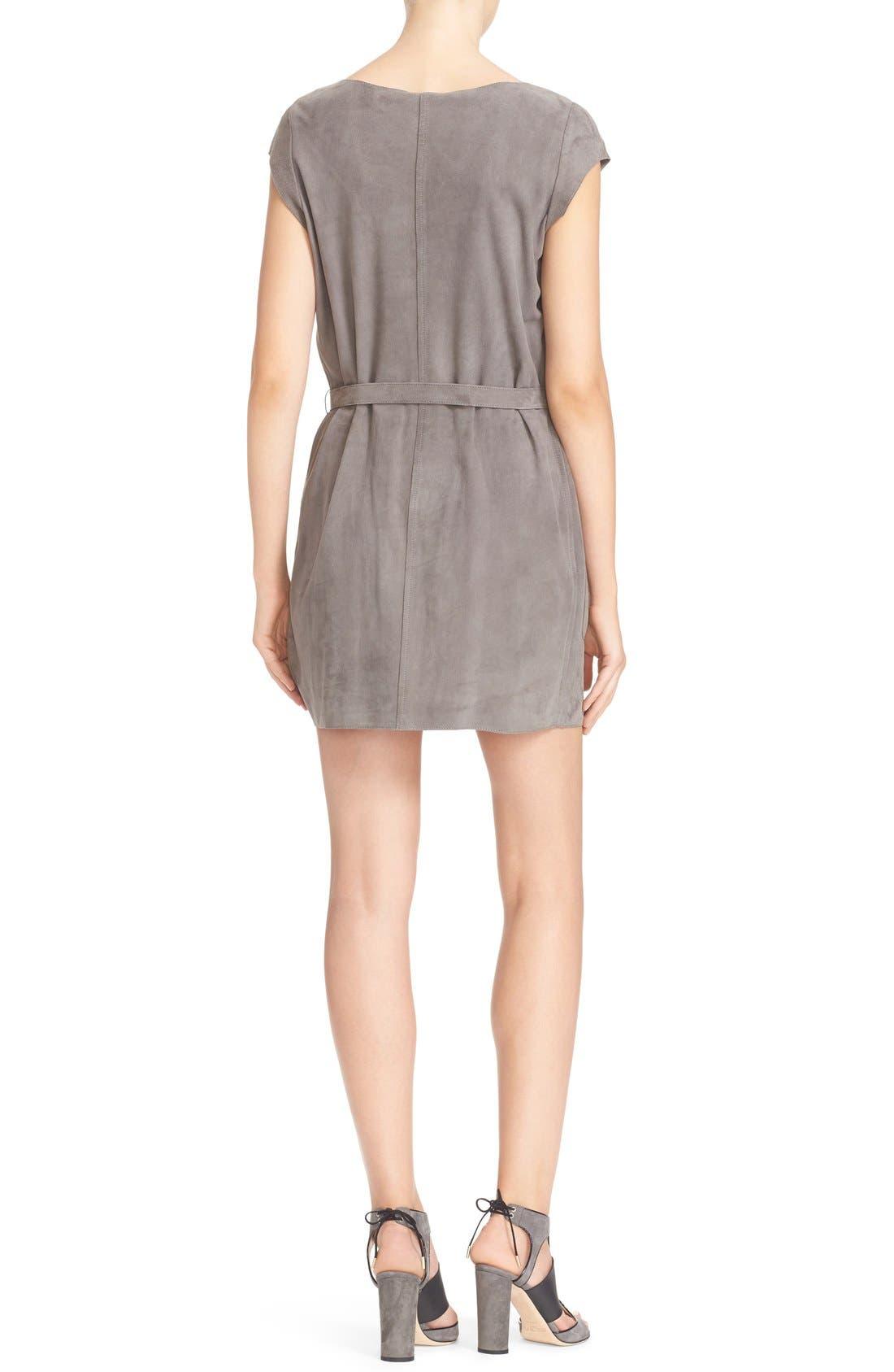 Alternate Image 2  - Joie Maroone Belted Suede Minidress