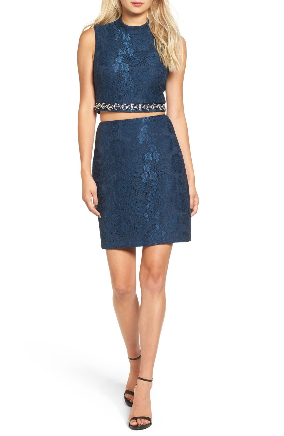 Main Image - Way-In Lace Two-Piece Dress
