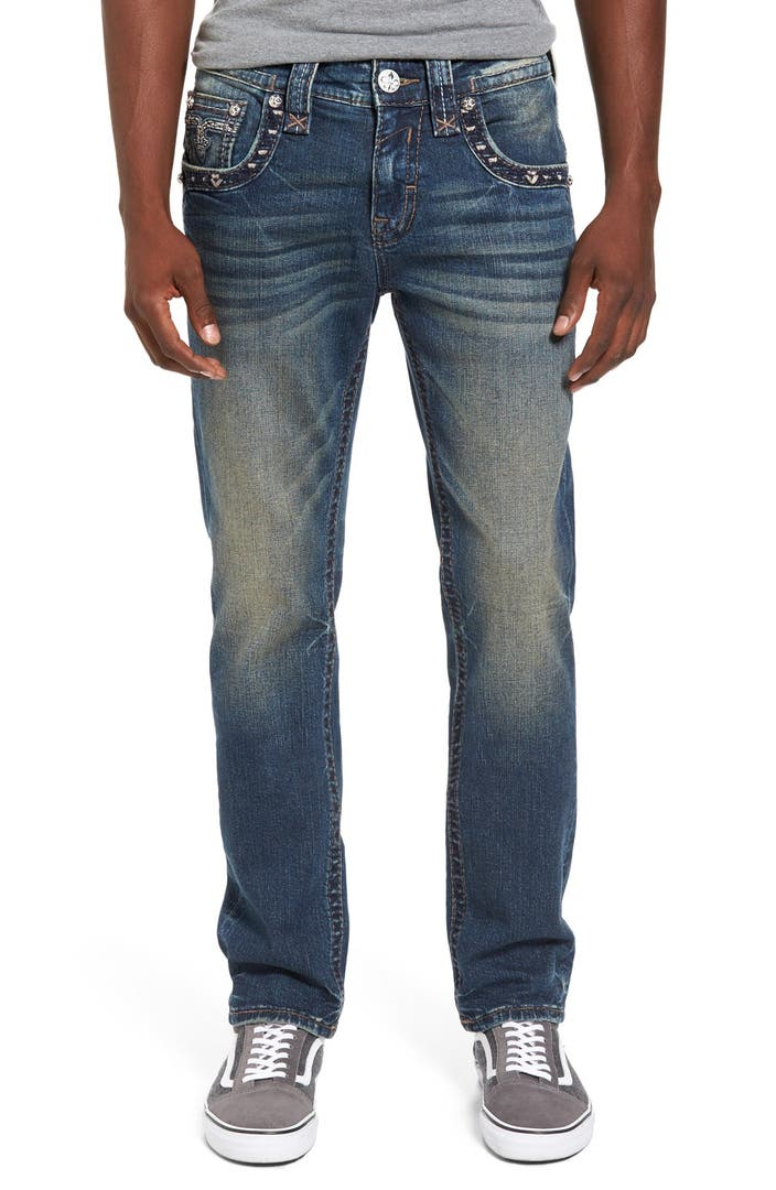 Rock Revival Alternative Straight Leg Jeans (Vintage Blue) | Nordstrom