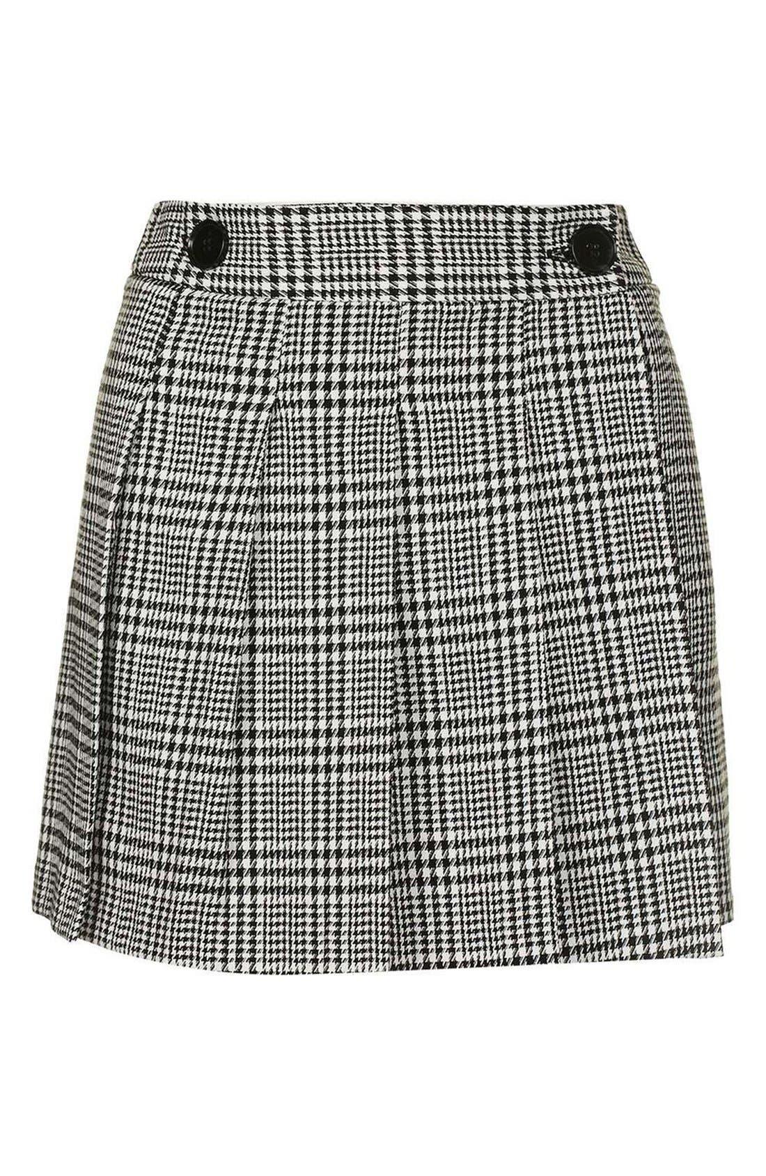 Alternate Image 4  - Topshop Houndstooth Miniskirt