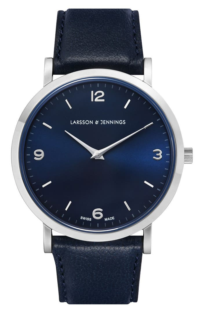 Larsson jennings lugano leather strap watch 38mm nordstrom for Watches 38mm