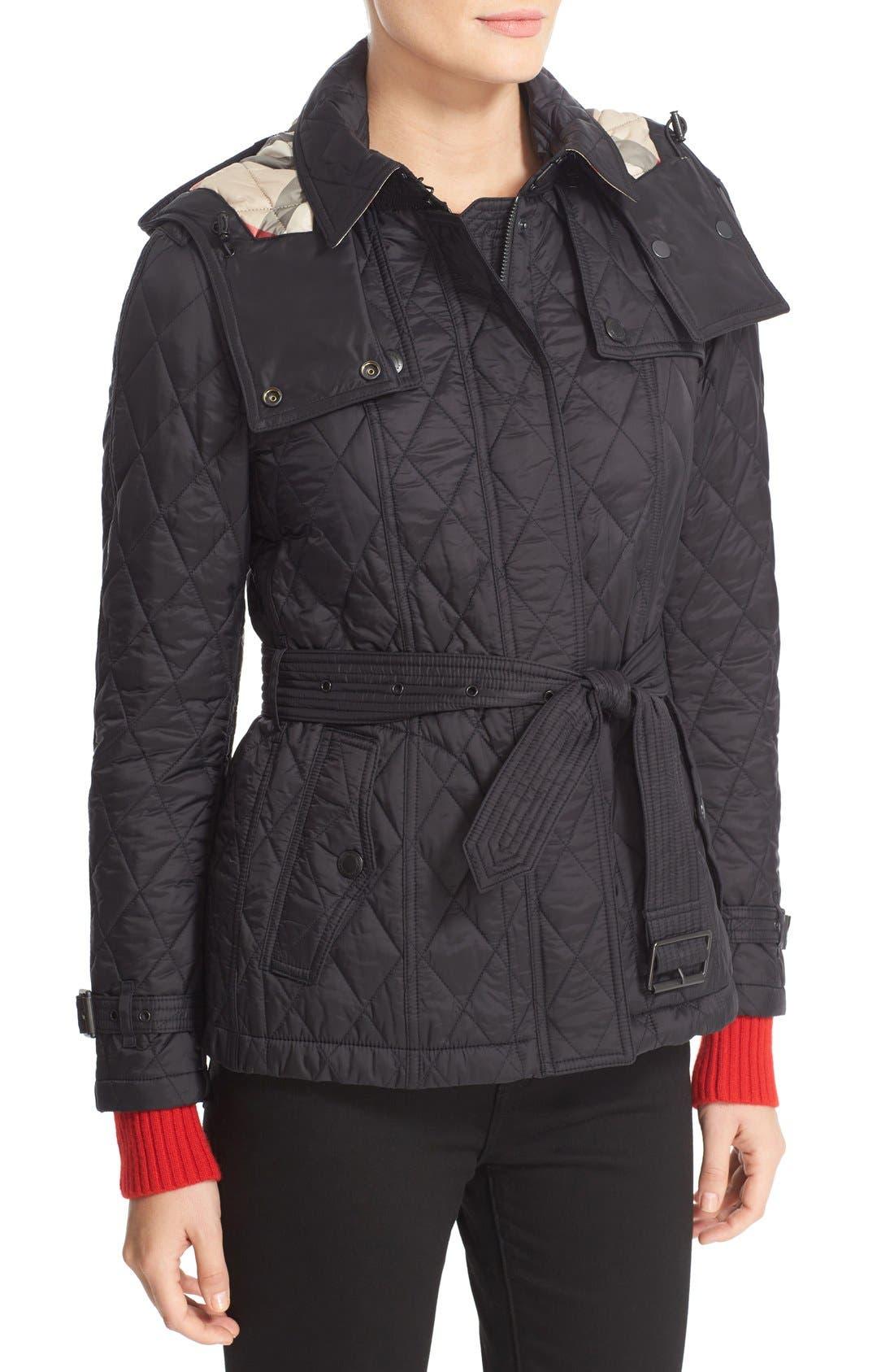 Alternate Image 6  - BurberryFinsbridge Short Quilted Jacket