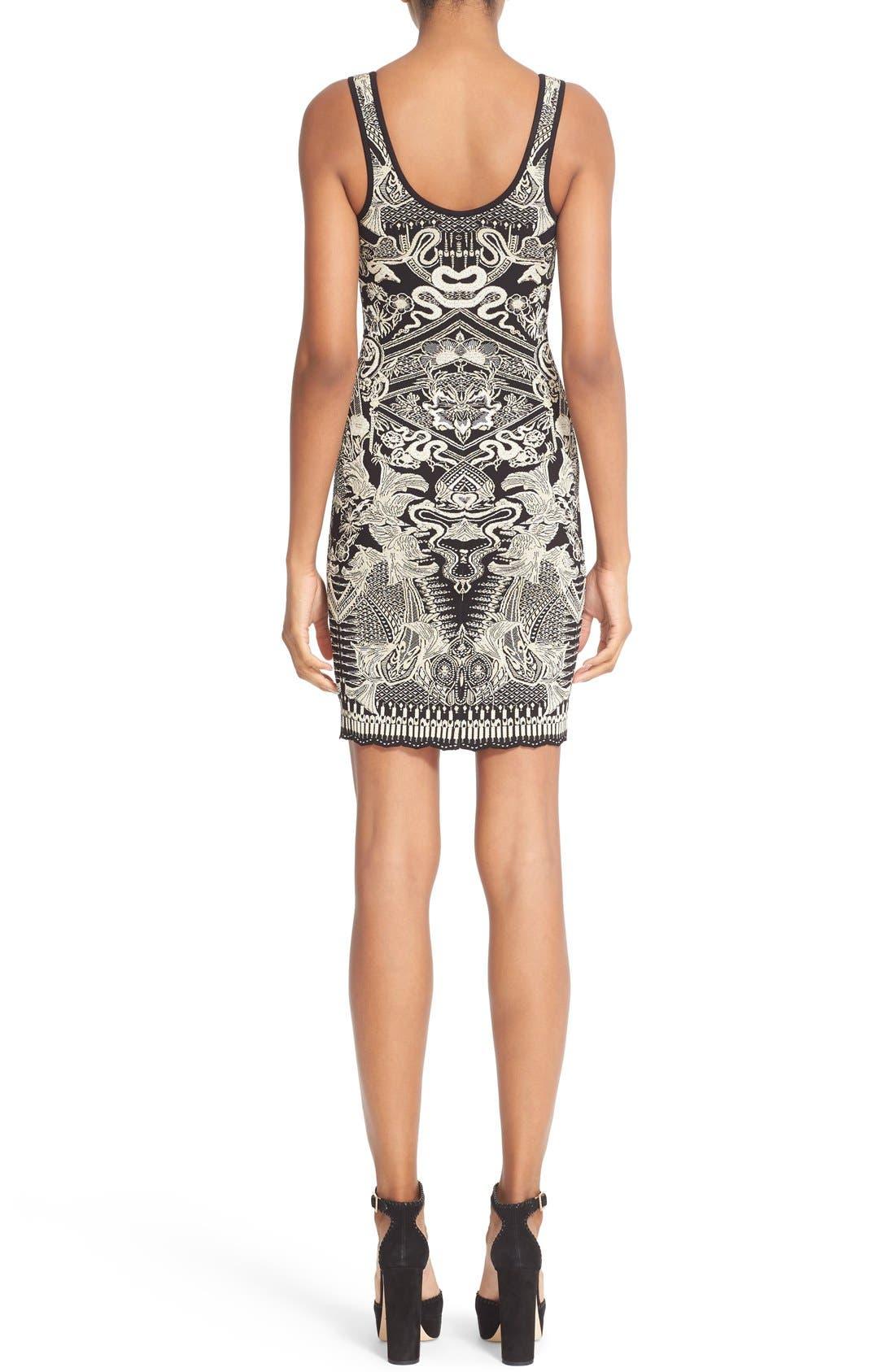 Alternate Image 2  - Roberto Cavalli Jacquard Knit Dress