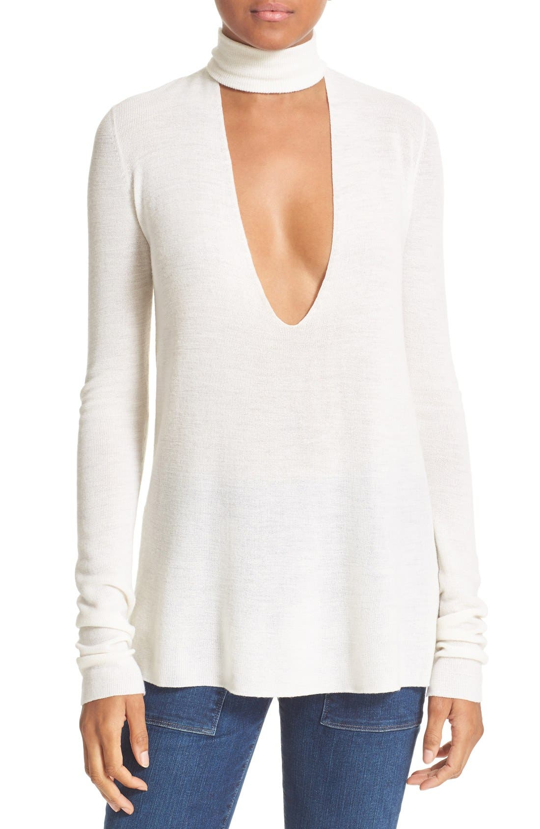 A.L.C. Caro Merino Wool Cutout Sweater