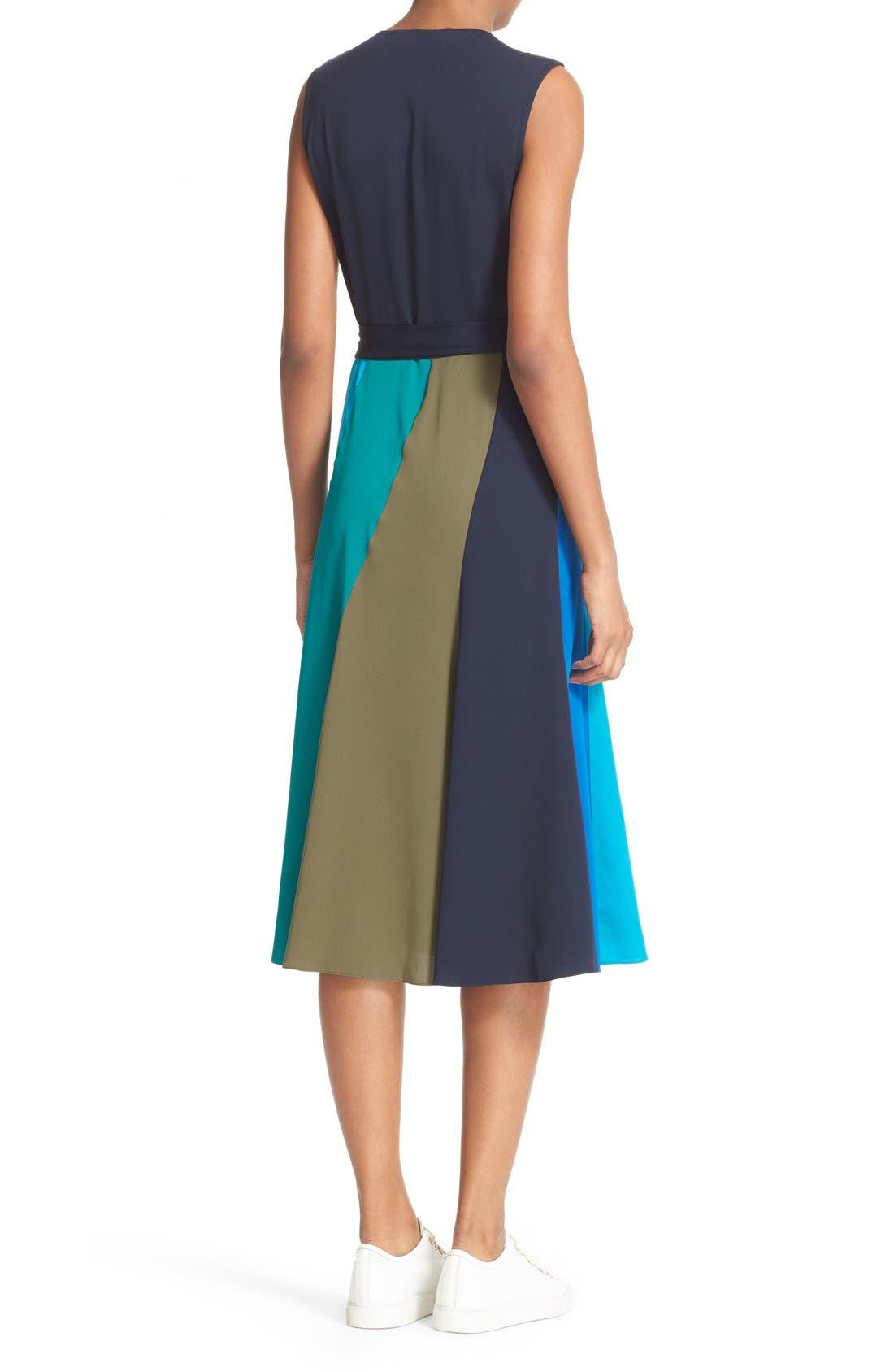 Alternate Image 2  - Diane von Furstenberg Penelope Colorblock Wrap Fit & Flare Dress
