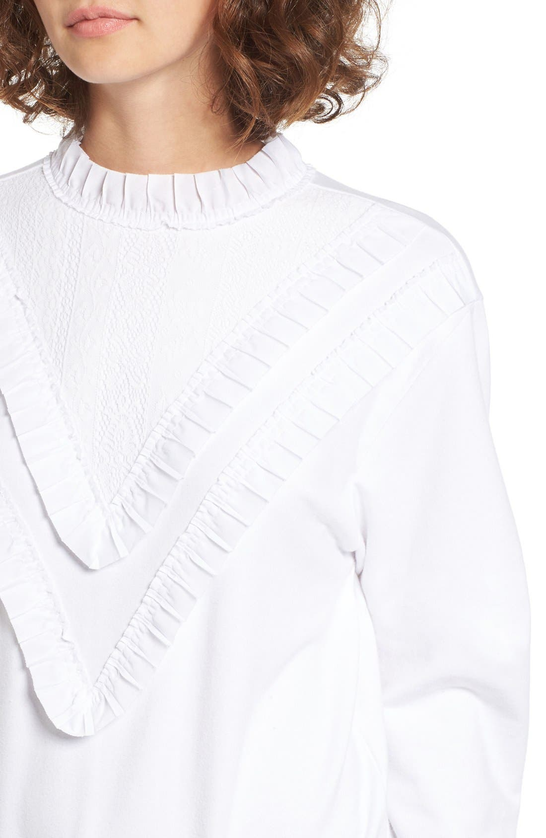 Alternate Image 4  - BP. Ruffle Front Sweatshirt