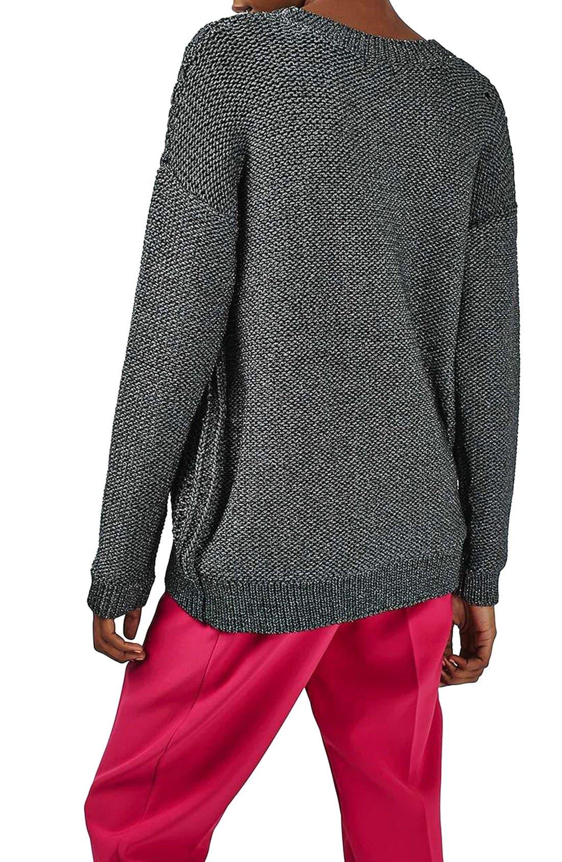 Alternate Image 3  - Topshop Metallic Sweater