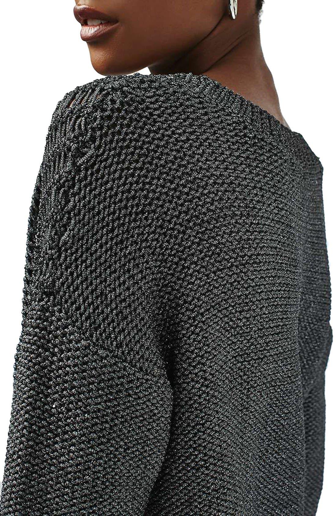 Alternate Image 5  - Topshop Metallic Sweater