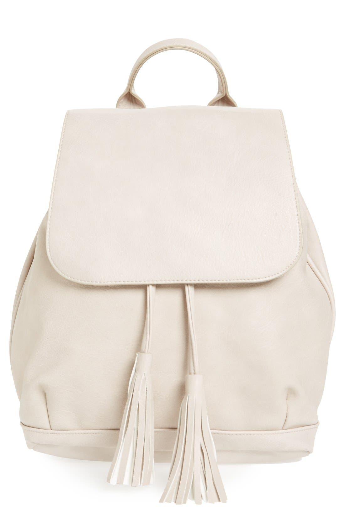 Alternate Image 1 Selected - BP. Tassel Flap Faux Leather Backpack