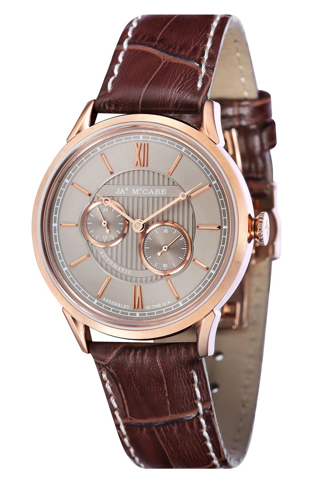 JAMES MCCABE Heritage II Automatic Multifunction Leather Strap