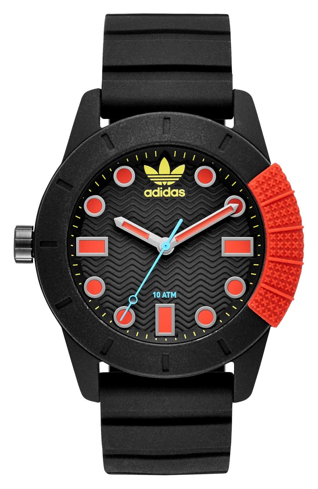 ADIDAS ADH-1969 Sport Silicone Strap Watch, 42mm