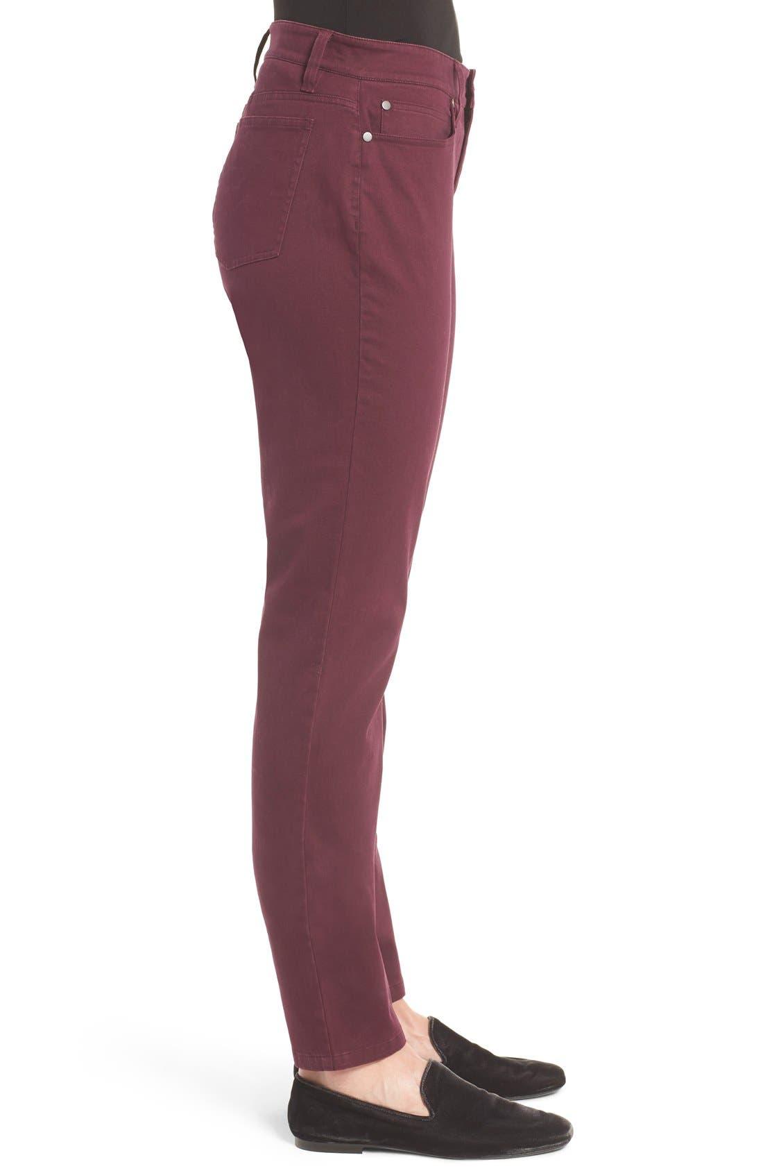 Alternate Image 3  - Eileen Fisher Organic Cotton Sateen Skinny Jeans