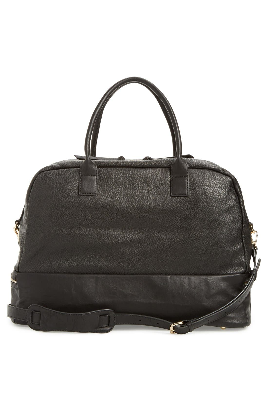 Alternate Image 2  - Sole Society 'Mason' Faux Leather Weekend Bag