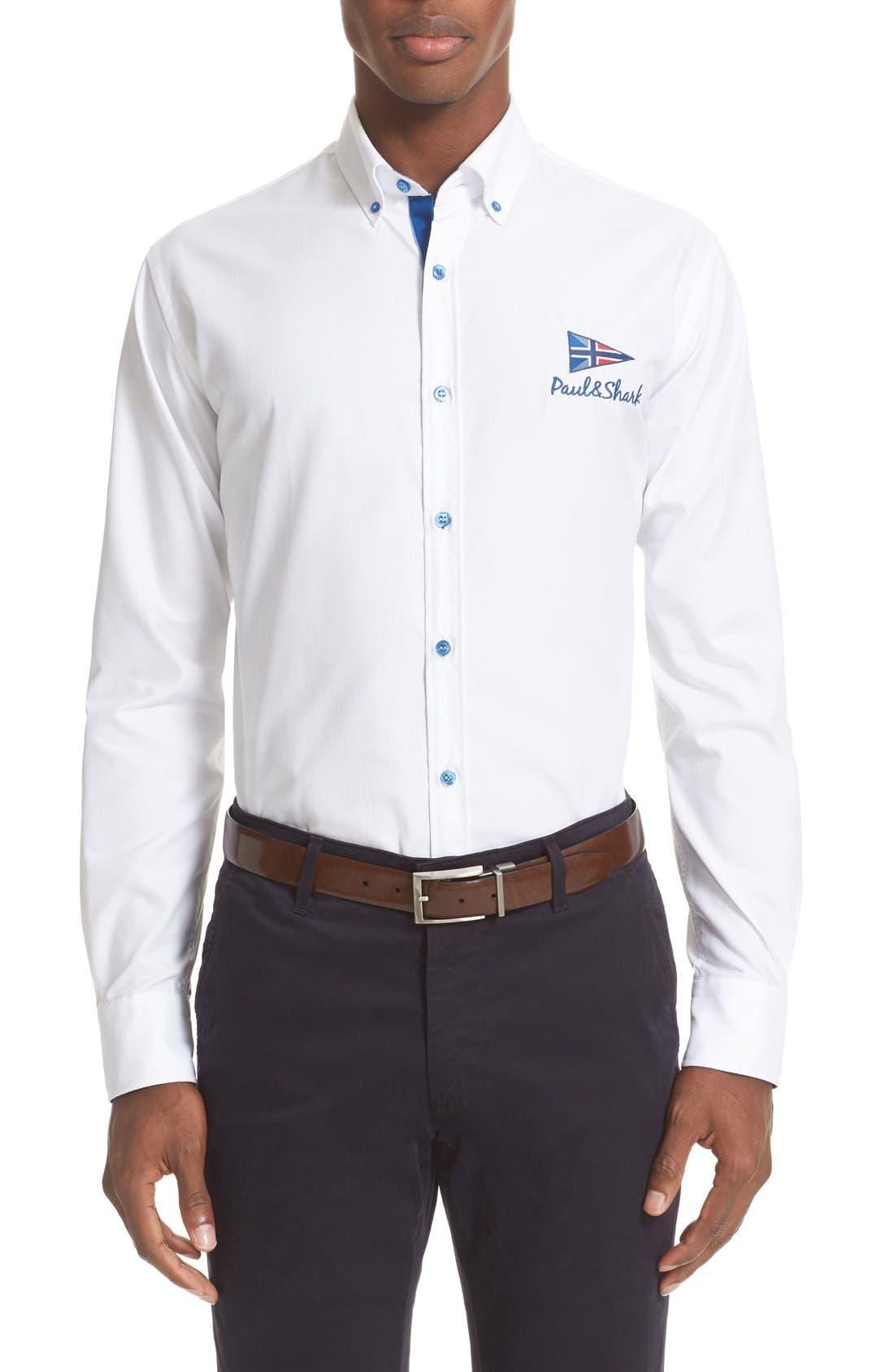 PAUL & SHARK Logo Sport Shirt